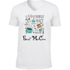 E=mc2 Tasarım Kahve Temalı Fizikçiye Hediye Tişört (Unisex)