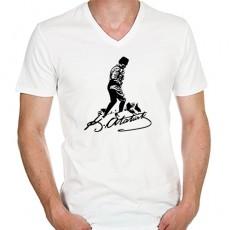 Atatürk İmzalı Tişört - Unisex - V yaka