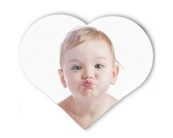 Fotoğraflı Kalp Şeklinde Puzzle (23x19 cm)