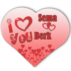 Sevgiliye Hediye - İsimli Kalp Puzzle