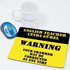 İngilizce Öğretmenine Öğretmenler Günü Hediyesi Mousepad