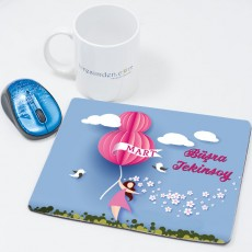8 Mart Hediyesi İsimli Mousepad