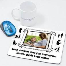 Anneye Hediye Fotoğraflı Mousepad