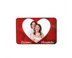 Kalpli Sevgili Fotoğraflı Magnet (10x15 cm)