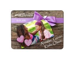 Anneler Gününe Özel Tasarım Fotoğraflı Magnet (15x21 cm)