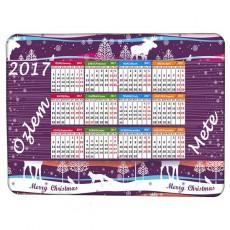 Yeni Yıl Hediyesi - 2017 Takvimli İsme Özel Magnet (15x21 cm)