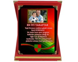 Yeşil-Kırmızı Fotoğraflı Taraftar Plaketi