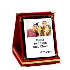 Fotoğraflı Kişiye Özel Kadife Plaket (9x12 cm)