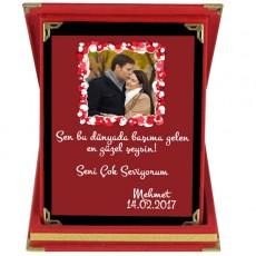 Sevgililer Günü Hediyesi - Romantik Fotoğraflı Plaket
