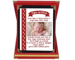 Doğum Sertifikası Plaket - Kız Bebek Hediyesi