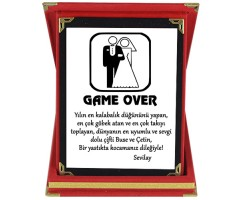 Game Over Plaket - Yeni Evliye Hediye