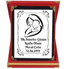 İlk Anneler Günü Hediyesi İsimli Plaket (9x12cm)