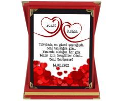 Sevgililer Günü Hediyesi İsimli Romantik Plaket