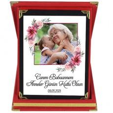 Babaanneye Kişiye Özel Anneler Günü Hediyesi Fotoğraflı Plaket