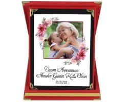 Anneanneye Kişiye Özel Anneler Günü Hediyesi Fotoğraflı Plaket