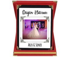 Düğün Hatırası Evlilik Hediyesi - Fotoğraflı ve İsimli Plaket