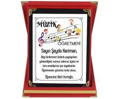 Müzik Öğretmenine Hediye İsim Baskılı Plaket - Öğretmenler Günü Hediyesi