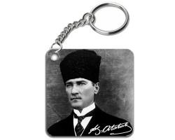Kemal Atatürk İmzalı ve Atatürk Fotoğraflı Anahtarlık