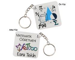 Matematik Öğretmenine Hediye Anahtarlık