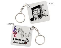 Müzik Öğretmenine Hediye Anahtarlık