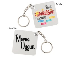 İngilizce Öğretmenine Öğretmenler Günü Hediyesi İsimli Anahtarlık
