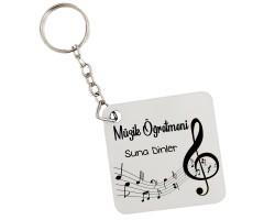 Müzik Öğretmenine Öğretmenler Günü Hediyesi İsimli Anahtarlık
