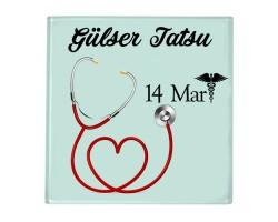 14 Mart Tıp Bayramı Hediyesi Bardak Altlığı