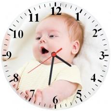 Fotoğraflı Cam Duvar Saati (27 cm)