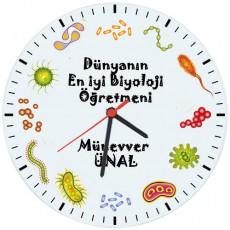 Biyoloji Öğretmenleri için Hediyelik Saat - Öğretmenler Günü Hediyesi