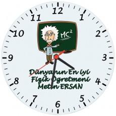 Fizik Öğretmenleri için Hediyelik Saat - Öğretmenler Günü Hediyesi