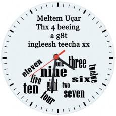 İngilizce Öğretmenleri için Hediyelik Saat - Öğretmenler Günü Hediyesi