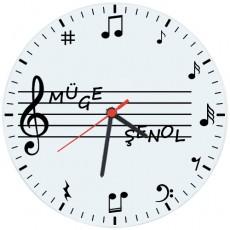 Müzik Öğretmenleri için Hediyelik Saat - Öğretmenler Günü Hediyesi