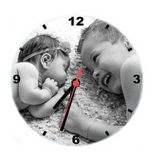 Kişiye Özel Fotoğraf Baskılı Cam Duvar Saati (20 cm)