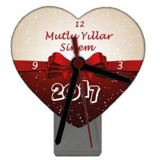 2017 Yılbaşı Hediyesi - İsimli Kalp Masa Saati