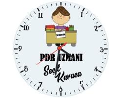 Bayan Rehberlik Öğretmeni - PDR Hediyesi Saat (Cam 29cm)