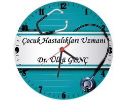 Doktora Hediye İsimli Ofis Cam Duvar Saati