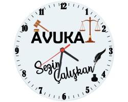 Avukata Hediye İsimli Ofis Cam Duvar Saati