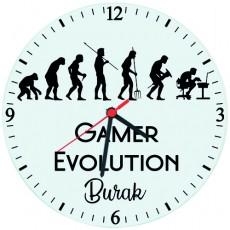 Gamer Evolution Oyuncuya Hediye İsimli Duvar Saati
