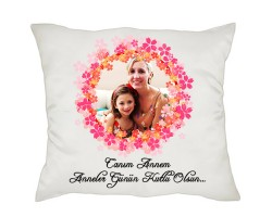 Anneler Günü Hediyesi - Fotoğraflı Yastık