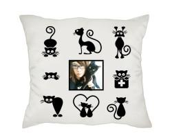 Kedi Sahiplerine Hediye Fotoğraflı Yastık