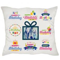 Doğum Günü Hediyesi - Happy Birthday Fotoğraflı Yastık