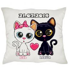 Aşık Kedicikler İsimli Yastık