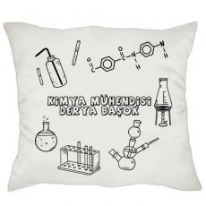 Kimya Mühendisine Hediye - İsimli Yastık