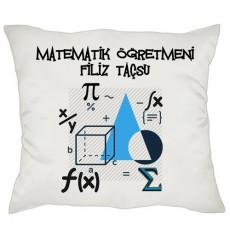 Matematik Öğretmenine Hediye - İsimli Yastık