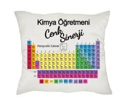 Kimyagere Hediye - İsimli Periyodik Cetvel Yastık