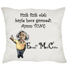 Fizik Öğretmenine Hediye Einstein Yastık