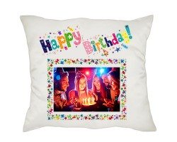 Happy Birthday Fotoğraflı Yastık