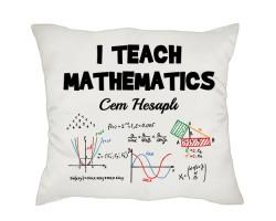Matematik Öğretmenine Hediye Yastık