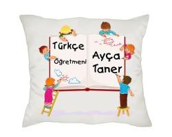 Türkçe Öğretmenine Hediye Yastık