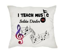 Müzik Öğretmenine Hediye Yastık